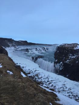 Winter months so was still getting light as we arrived at Gullfoss waterfal , Daisy - June 2017