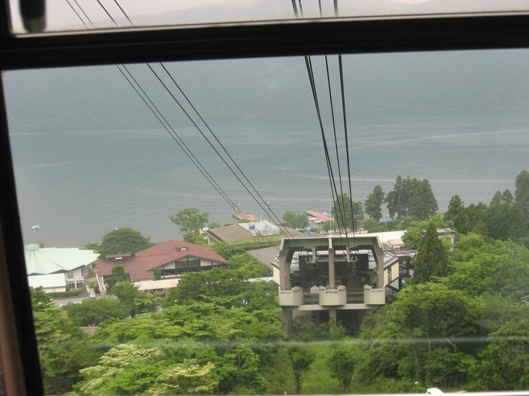 Cable Car Station and Lake - Tokyo