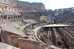 view of the inside of colosseum , Ritchie H - October 2013