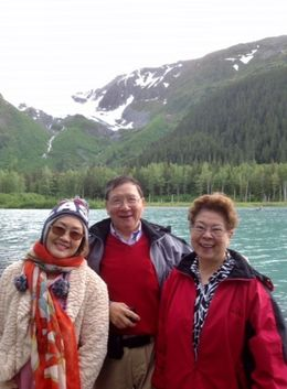 Jing, wife Elizabeth, and sister Nancy , Jing Y - June 2015