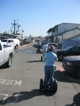 Exploring the working areas of the piers at Fisherman's Wharf is in the early part of the tour. It gives the group some additional practice before heading out on the rest of the tour including..., Leo v - October 2013