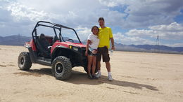 My wife Celia and I after racing over the dry lake bed. , phoenix304 - September 2015