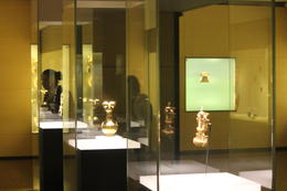 Various display cases inside the Gold Museum., Bandit - September 2012