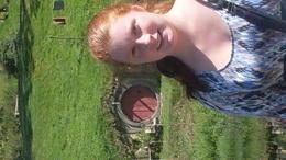 Visiting at hobbiton, after some refreshing and delicious Cider , Kayla J - April 2014