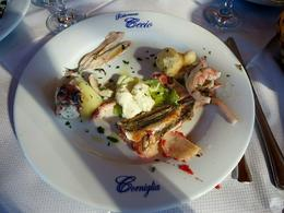 The appetizer before pasta for lunch at ristorante Cecio in Corniglia , Fiona V - November 2014