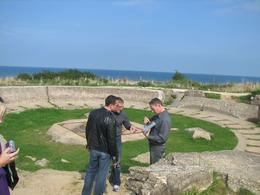 Our Viator guide, at Pointe du Hoc explaining a German cannon bunker., Martin F. O - September 2008