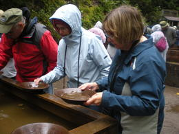 After our lesson, we got to try our luck panning for gold! Unlike years ago, we all found some flecks of gold that we got to take home with us. , mary L - September 2016