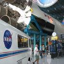 Entrada para el Centro Espacial Kennedy en Cabo Cañaveral, Orlando, FL, ESTADOS UNIDOS
