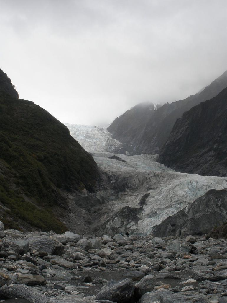 View of Franz Josef Glacier from terminal - Franz Josef & Fox Glacier