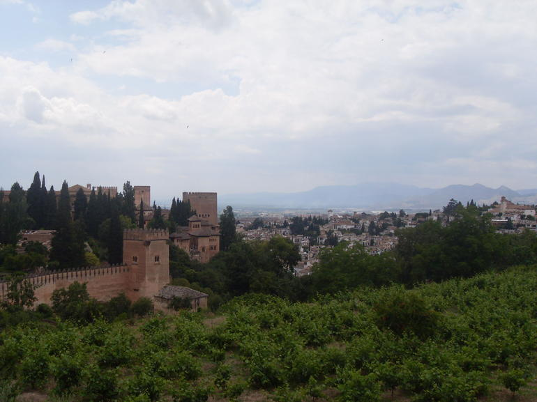 View of the Alhambra from Generalife Gardens - Seville