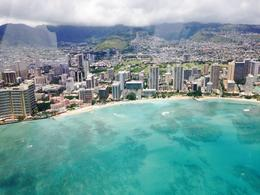 Helicopter flight over Waikiki. Great shot of the Royal Hawaiian Hotel (In Pink). , samuellawson23 - August 2014