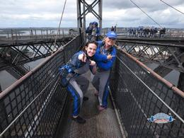 My daughter and I playing on top of the bridge for our photo , Looks like we made it to the top of the Sydney Bridge , Nicks - April 2017