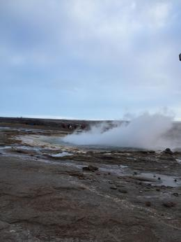 Windy day so not much height to the Geysir , Daisy - June 2017