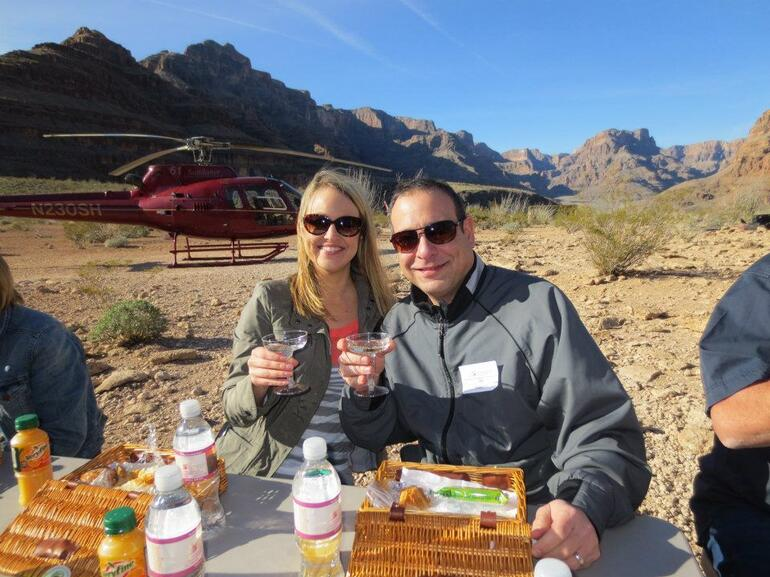 Breakfast on the floor of the Grand Canyon - Las Vegas