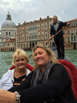 Shelley Bowe and Judy Martin, mother and daughter from New Zealand taking a Gondola ride in Venice. Loved it , judymartin34 - May 2015