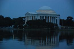 Jefferson Memorial at twilight., Gordon D - August 2008