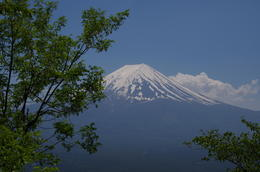 From lookout of Lake Kawaguchi cable towards Mt Fuji. Beautiful vantage point for viewing the town and Mt Fuji. , passchie - June 2014