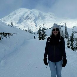 A photo of me on the mountain! I wish the photo captured the cute snowshoes that the tour provided! , Janet V - February 2016