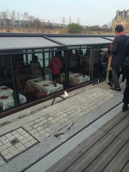 View when boarding the Seine River Cruise , Ella M - April 2014
