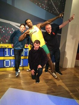 With Usain at Madame Tussards , Colin K - August 2016