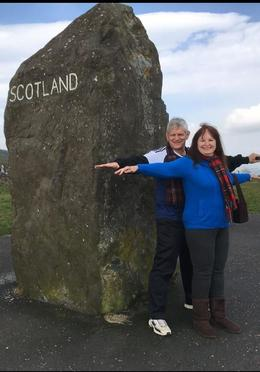 At the border of England and Scotland where the marker stone is inscribed , SunKing1665 - May 2017
