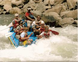 White-water rafting on the Arkansas River, near Buena Vista, Colorado , Leah - May 2011