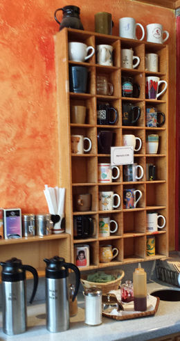 Where the locals leave their mugs! - April 2015