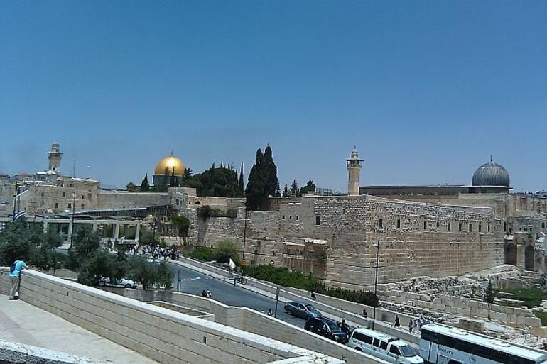 Centerpiece of Old City - West Wall and al-Aqsa Mosque - Jerusalem