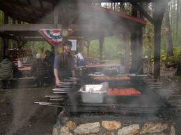 The camp cook getting ready to feed us all. , Beverly G - September 2015