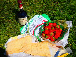 This was our picnic lunch by the canal. , Calgary - July 2012
