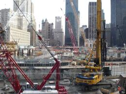 Looking at ground zero from the Winter Garden. - December 2008