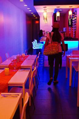 Inside a restaurant, Sarah - December 2011
