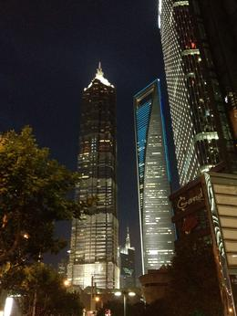 Jin Mao next to the Shanghai World Financial Center, Cat - August 2012