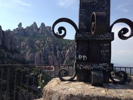 20mins walk to the cross at Montserrat half day trip from Barcelona... fabulous trip , Elizabeth M - June 2014