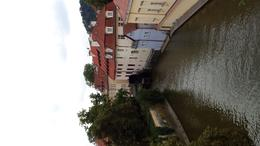 Crossing Charles Bridge to Kampa Island. , Edward K - August 2014