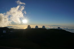 Watching the sunset at Mauna Kea Summit , Andy L - August 2016