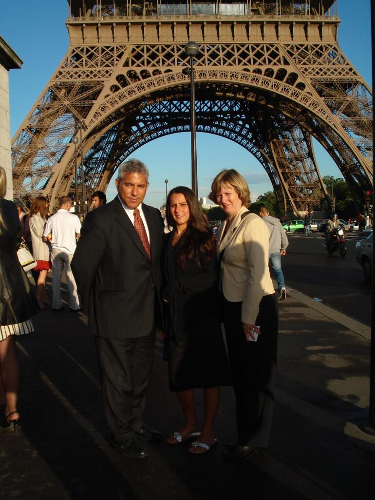 The family at the Eiffel Tower - Paris