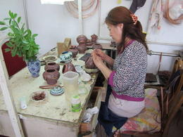 Worker at the Cloisonné factory., Julie - June 2012