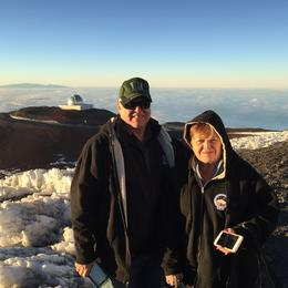 Mike and Carolyn on top of Mauna Kea waiting for sunset. , Michael G - January 2017