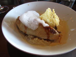 chicken with white truffle foam on top of risotto! , Kristine M - April 2011