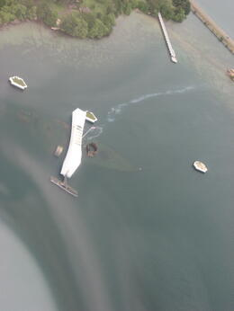Flying over the Arizona Memorial., Bandit - February 2011