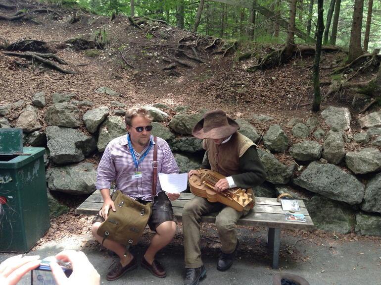 Austin and a minstrel near Neuschwanstein Castle - Munich
