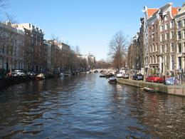A view along one of Amsterdam's scenic canals in February 2008., Mike G - February 2008