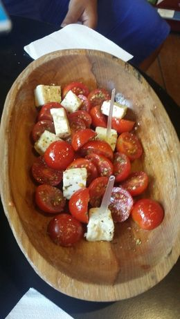 We tasted Olive Oils and Balsamic Vinegar. Apparently an authentic Greek salad does not contain anything more than vinegar, olive oil, tomatoes, and Feta! , mpower_666 - August 2016