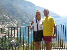 Anna and Frank in Positano , Travelbug - August 2011