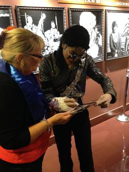 Kaylene Beddows and Michael Jackson. , Kaylene B - February 2014