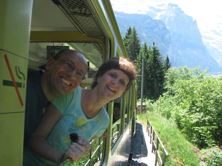 on the train - Zurich