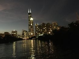 Chicago at dusk, from the river. , beatrice C - July 2016
