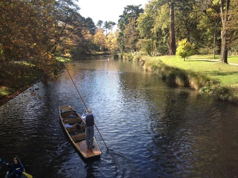 Punting on the Avon River - Christchurch