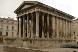 "Roman temple in the city of Nimes known as the ""Maison Carree"" or squared house, France - December 2011"